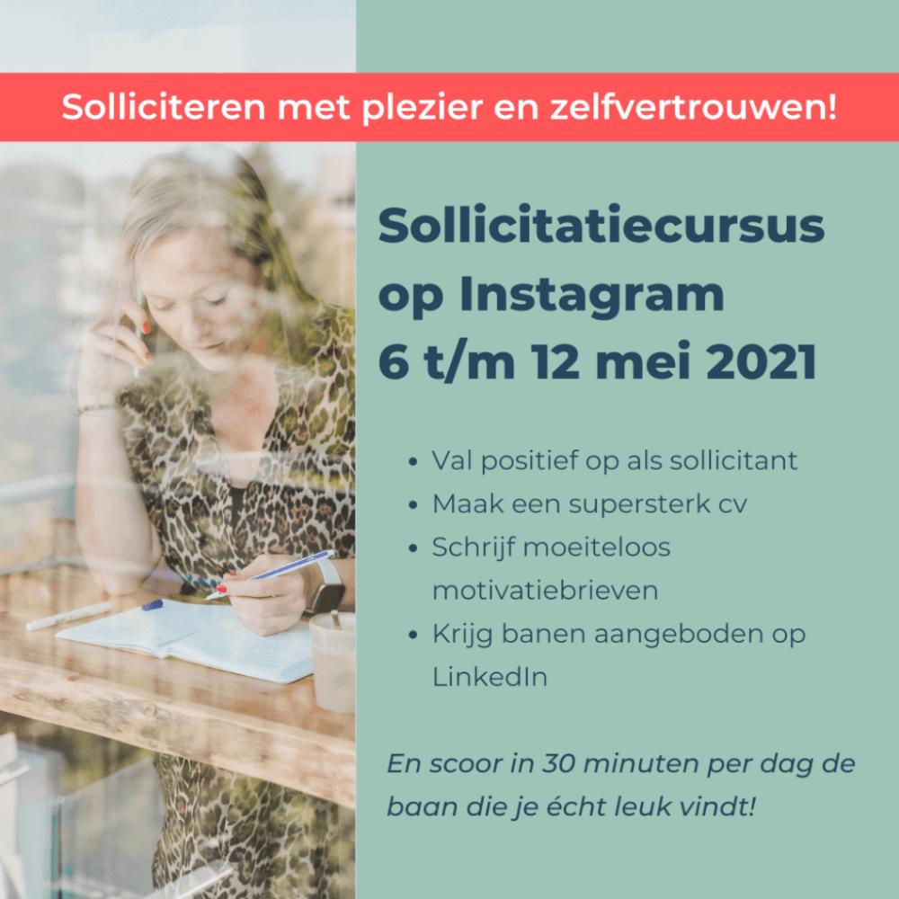Online sollicitatiecursus Instagram Jouw Wending Solliciteren Coach